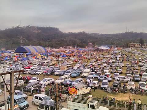 Holi Mela Sujanpur 2016 chaugan turned into parking